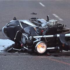 バイク事故の写真